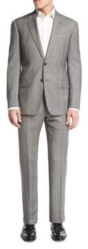 Armani Collezioni Prince of Wales Check Two-Piece Suit, Light Gray