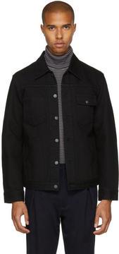Blue Blue Japan Black Denim Saddle Jacket
