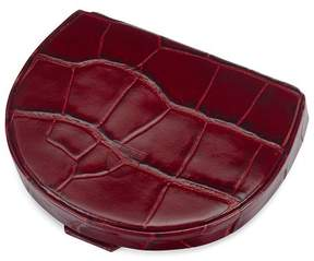 Aspinal of London Horseshoe Coin Holder In Deep Shine Bordeaux Croc
