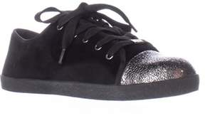 Delman Magie Low Top Fashion Sneakers, Black.