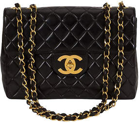 One Kings Lane Vintage Chanel Black Quilted & Logo Jumbo