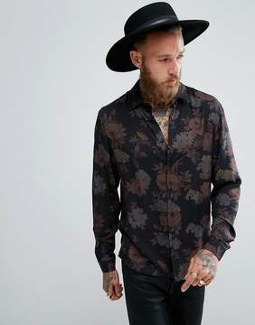 Asos DESIGN regular fit viscose shirt in floral print