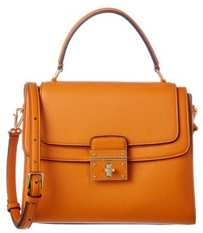 Dolce & Gabbana Greta Medium Leather Satchel. - YELLOW - STYLE