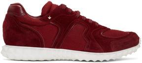 Valentino Burgundy Garavani Hive Sneakers