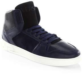Versace Men's Stylish High-Top Sneakers
