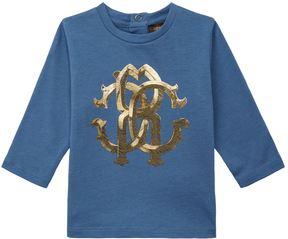 Roberto Cavalli Logo Crest Long Sleeve Top