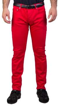 Christian Dior Men's Slim Fit Jeans Pants Red
