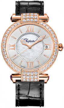 Chopard Imperiale Silver with Mother Of Pearl Dial 18 Carat Rose Gold Automatic Ladies Watch