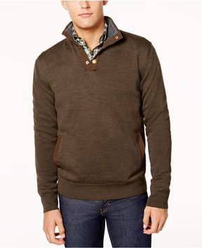 Barbour Men's Spate Snap-Collar Sweater