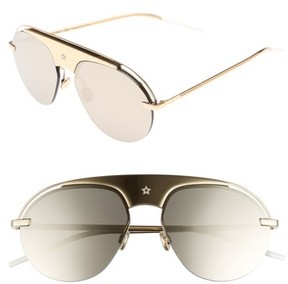 Christian Dior Women's Evolution 2 60Mm Aviator Sunglasses - Gold