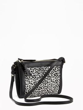 Double-Zip Crossbody Bag for Women
