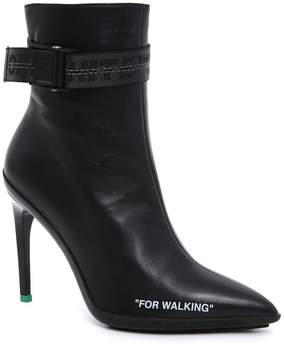 Off-White Side Zip Ankle Boots