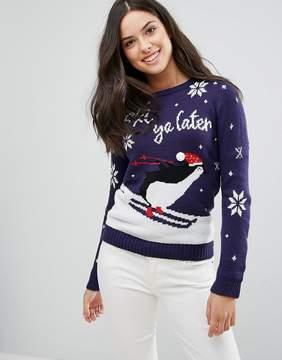 Brave Soul Ski Ya Later Holidays Sweater