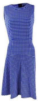 Tommy Hilfiger Women's Textured Gingham Fit & Flare Dress