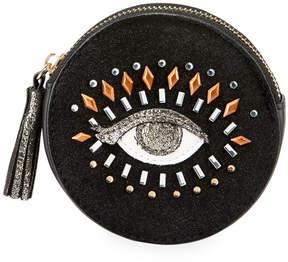 Neiman Marcus Glam Eye Round Coin Purse