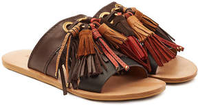 See by Chloe Leather Sandals with Suede Fringes