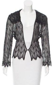 Christian Dior Scalloped Crochet Cardigan