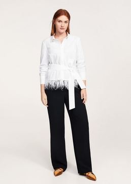 Violeta BY MANGO Belted feathers blouse