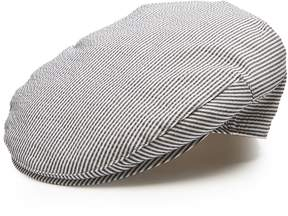 Borsalino Striped cotton-blend flat cap