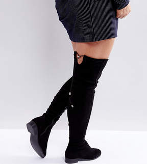 Asos KEEP UP Wide Fit Extra Wide Leg Over The Knee Boots