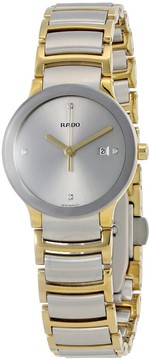 Rado Centrix Silver Dial Two-tone Ladies Watch