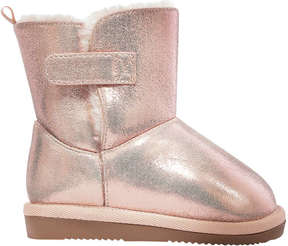 Joe Fresh Baby Girls' Metallic Cozy Boots, Light Gold (Size 5)