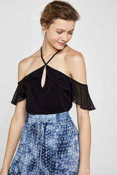 BCBGeneration Off-The-Shoulder Knit Halter Top