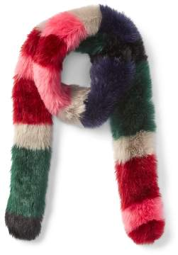 Gap Crazy stripe fur scarf