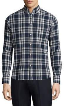 Officine Generale Checked Cotton Shirt
