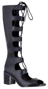 Mia Elija Lace-Up Peep Toe Boots