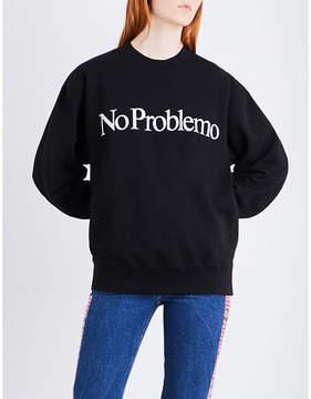 Aries No Problemo printed cotton-jersey sweatshirt