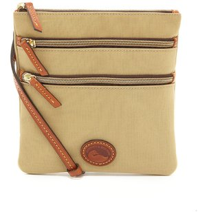 Dooney & Bourke Nylon Triple-Zip Cross-Body Bag - KHAKI - STYLE