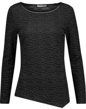 Tart Collections Celest Cutout Faux Leather-Trimmed Embroidered Cotton-Blend Top