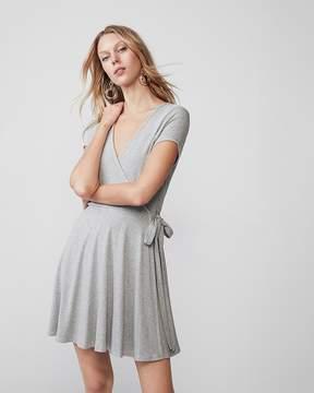 Express Ribbed Wrap Dress