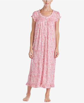 Eileen West Printed Ballet-Length Nightgown