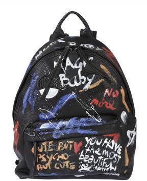 Chiara Ferragni Paint Effect Graphics Backpack