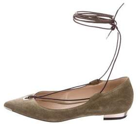 Barbara Bui Suede Lace-Up Flats