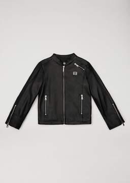 Armani Junior Matte Leather Jacket