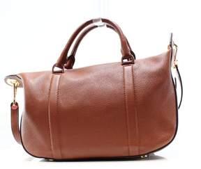 Michael Kors Raven Luggage Brown Large Satchel Handbag - BROWNS - STYLE