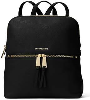 MICHAEL Michael Kors Rhea Slim Zip Backpack - BLACK - STYLE