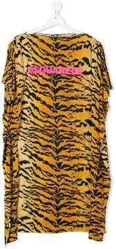 DSQUARED2 tiger print shift dress