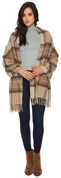 Polo Ralph Lauren Oversized Blanket Plaid Wrap Shawl Scarves