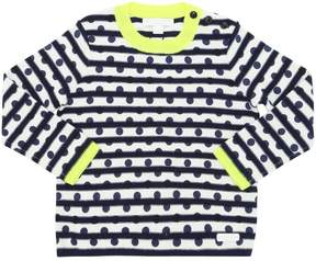 Burberry Embroidered Cotton & Cashmere Sweater
