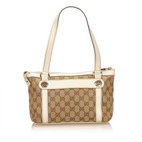 Gucci Pre-owned: Guccissima Jacquard Shoulder Bag. - BROWN X BEIGE X WHITE - STYLE