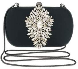 Badgley Mischka Aurora Jeweled Minaudiere Clutch