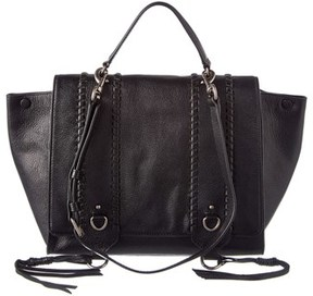 Rebecca Minkoff Paige Leather Satchel. - BLACK - STYLE