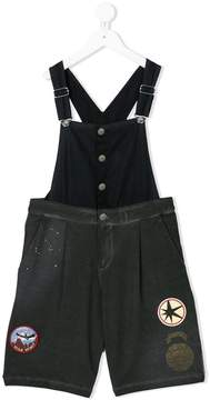 Diesel layered patched playsuit
