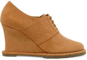 Bottega Veneta Suede Wedge Ankle Boots - Tan