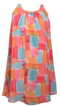 Iris & Ivy Little Girl's Sleeveless Brushstroke Print Dress