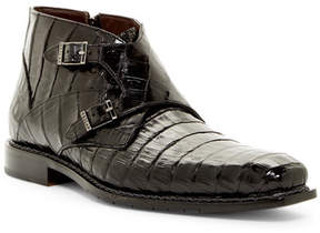 Mezlan Genuine Crocodile Double Monk Boot